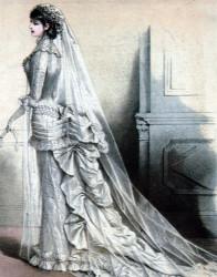 Bruidsmode in 1880