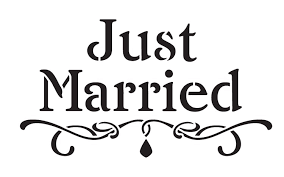 Just married sjabloon